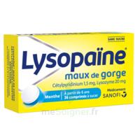 LYSOPAÏNE Comprimés à sucer maux de gorge sans sucre 2T/18 à MULHOUSE