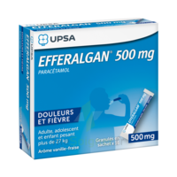 Efferalgan 500 mg Glé en sachet Sach/16 à MULHOUSE