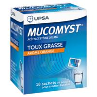 MUCOMYST 200 mg Poudre pour solution buvable en sachet B/18 à MULHOUSE