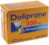Doliprane 200 Mg Poudre Pour Solution Buvable En Sachet-dose B/12 à MULHOUSE