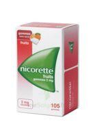Nicorette 2 Mg Gomme à Mâcher Médicamenteuse Sans Sucre Fruits Plq/105 à MULHOUSE