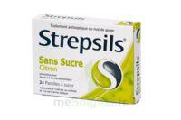 STREPSILS CITRON SANS SUCRE, pastille édulcorée à l'isomalt, au maltitol et à la saccharine sodique à MULHOUSE