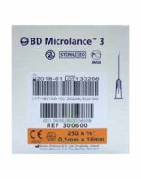 BD MICROLANCE 3, G25 5/8, 0,5 mm x 16 mm, orange  à MULHOUSE
