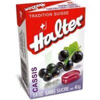 Halter Bonbon Sans Sucre Cassis 40g