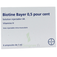 BIOTINE BAYER 0,5 POUR CENT, solution injectable I.M. à MULHOUSE