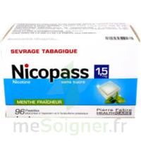 Nicopass 1,5 Mg Pastille Sans Sucre Menthe Fraîcheur Plq/96 à MULHOUSE
