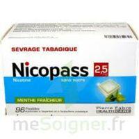 Nicopass 2,5 Mg Pastille Menthe Fraîcheur Sans Sucre Plq/96 à MULHOUSE