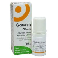 Cromabak 20 Mg/ml, Collyre En Solution à MULHOUSE