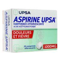 ASPIRINE UPSA TAMPONNEE EFFERVESCENTE 1000 mg, comprimé effervescent à MULHOUSE