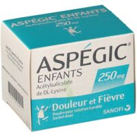 ASPEGIC ENFANTS 250, poudre pour solution buvable en sachet-dose à MULHOUSE