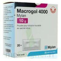 MACROGOL 4000 MYLAN 10 g, poudre pour solution buvable en sachet-dose à MULHOUSE