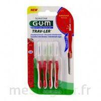 Gum Trav - Ler, 0,8 Mm, Manche Rouge , Blister 4 à MULHOUSE