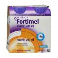 Fortimel Protein Nutriment caramel 4 Bouteilles/200ml à MULHOUSE
