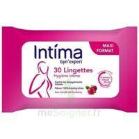 Intima Gyn'expert Lingettes Cranberry Paquet/30 à MULHOUSE