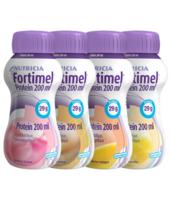 Fortimel Protein Nutriment Multi Saveurs Caramel/vanille/fraise/mangue 4 Bouteilles/200ml à MULHOUSE