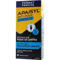 Apaisyl Anti-poux Xpress Lotion antipoux et lente 300ml à MULHOUSE