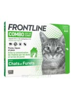 Frontline Combo Solution Externe Chat 3doses à MULHOUSE