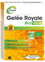 Cooper Gelée royale bio 1500 mg Solution buvable 20 Ampoules/10ml à MULHOUSE