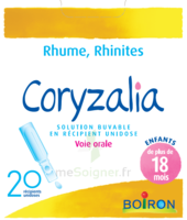 Boiron Coryzalia Solution buvable unidose B/20 à MULHOUSE