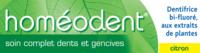 Boiron Homéodent Soin Complet Dents Et Gencives Pâte Dentifrice Citron T/75ml à MULHOUSE